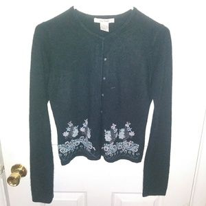 Free People Black Cardigan Sweater M